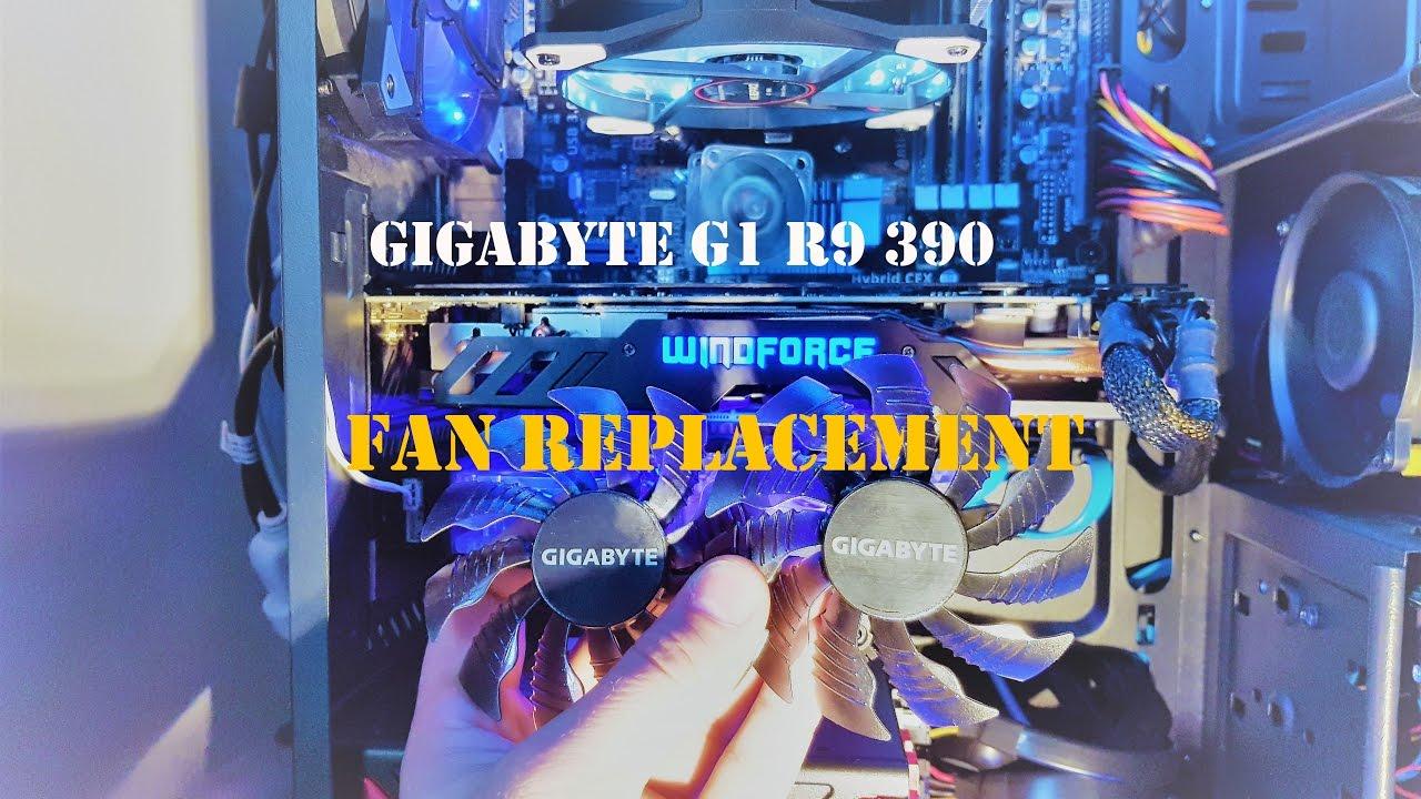 Gigabyte G1 R9 390 Fan Replacement Part 3