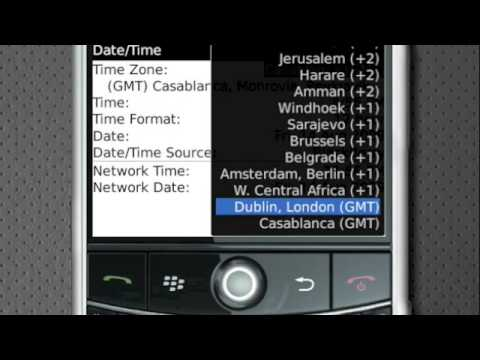 How To Set Up Date And Time On BlackBerry