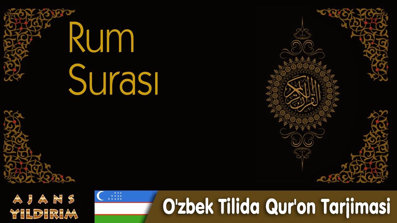 030 Rum - O'zbek Tilida Qur'on Tarjimasi MyTub.uz TAS-IX