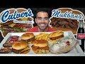 First Time At Culver's | Butterburger, Spicy Chicken, Banana Split | MUKBANG