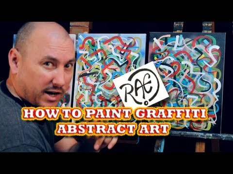 HOW TO PAINT with Acrylic Paint GRAFFITI ART LINES STEP BY STEP with RAEART