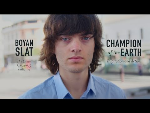 Dutch ocean crusader Boyan Slat awarded top global environmental prize for Inspiration and Action