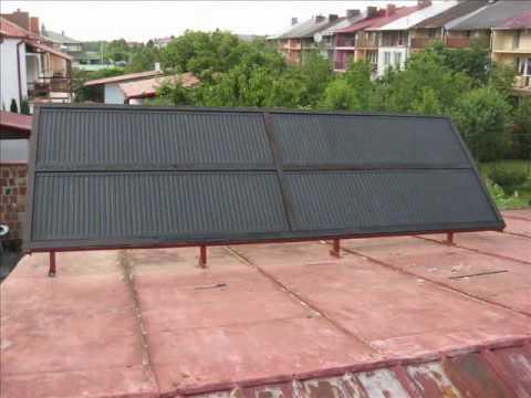 Ogromny Kolektor słoneczny z paneli grzejnikowych.wmv - YouTube EU44