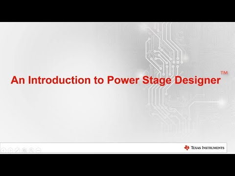 How to use the Power Stage Designer™ tool