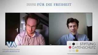 Datenschutz und Privatsphäre im Netz - Videochat mit Frederick Richter