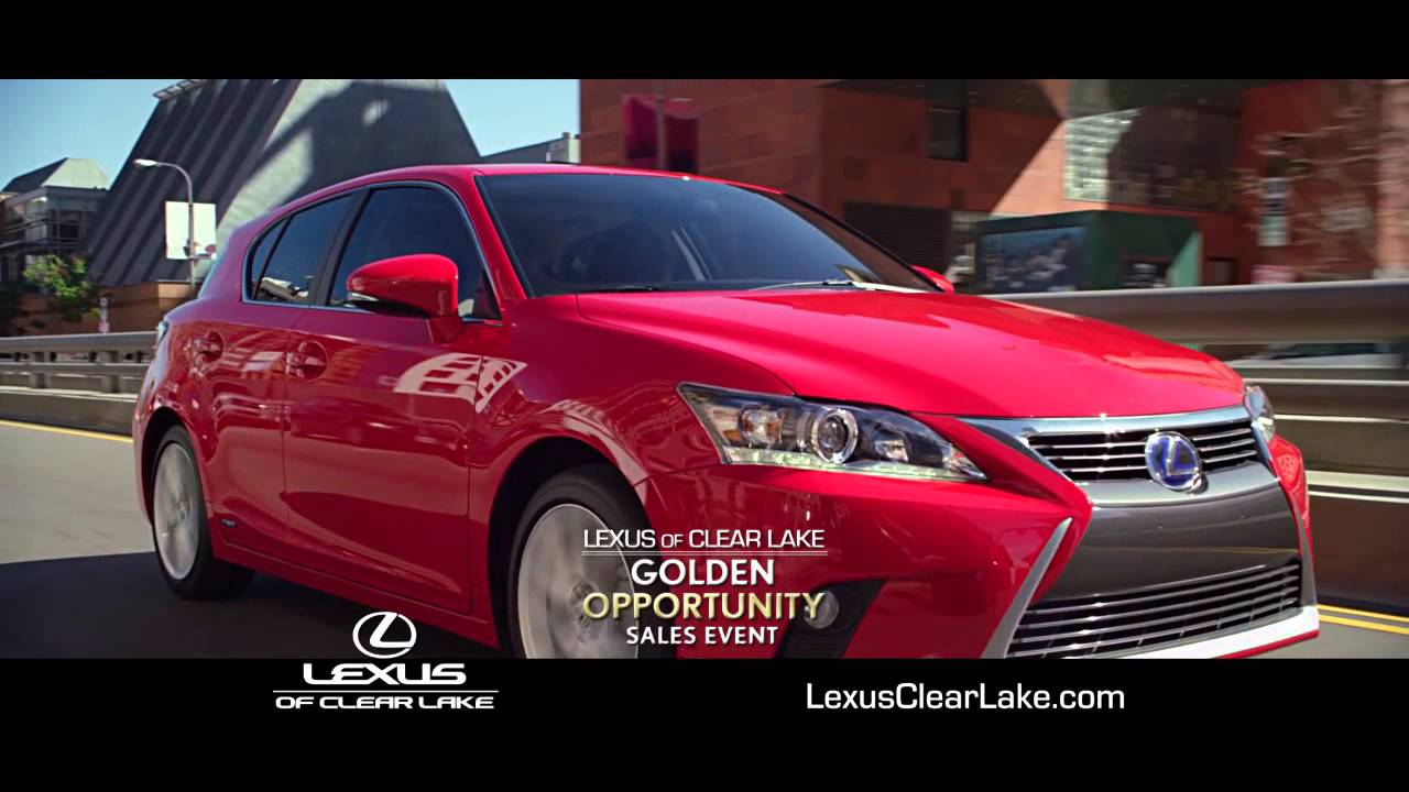 Lexus Of Clear Lake Golden Opportunity Sales Event!