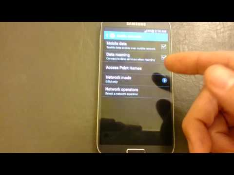 Galaxy S4: HOW TO ENABLE / DISABLE MOBILE DATA (3G, 4G, LTE)