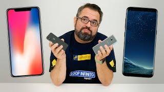 IPHONE X VS. GALAXY S8: COMPARATIVO DE TELAS