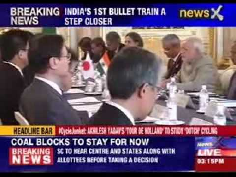 India- Japan sign MoU on 1st bullet train