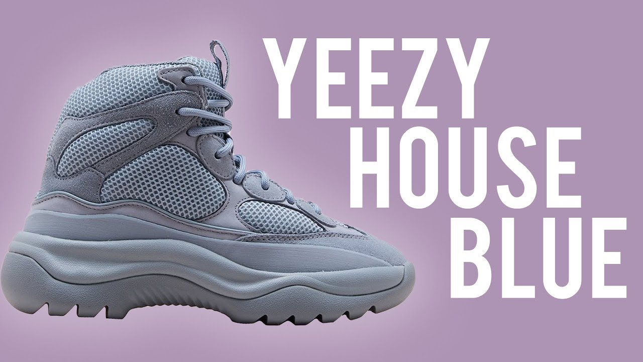 Yeezy Desert Boot House Blues Review On Foot Youtube
