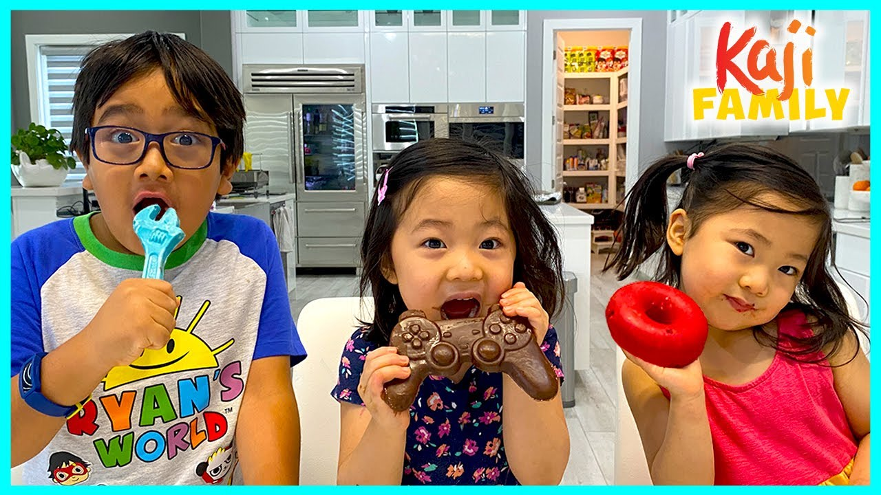 DIY Chocolate challenge with Donut and Remote Control Edible Candy!!!