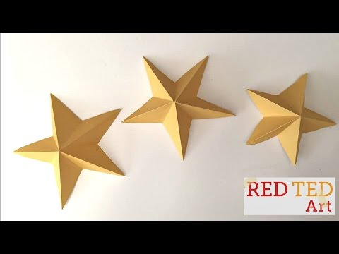 Video on how to make 3D kirigami stars