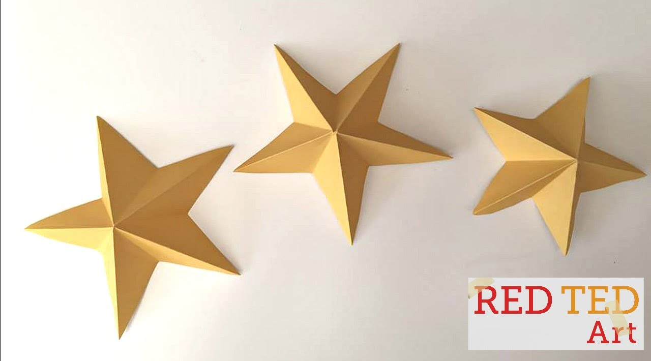 Easy Paper Stars Kirigami Christmas Crafts New Year S Party Decor Idea You