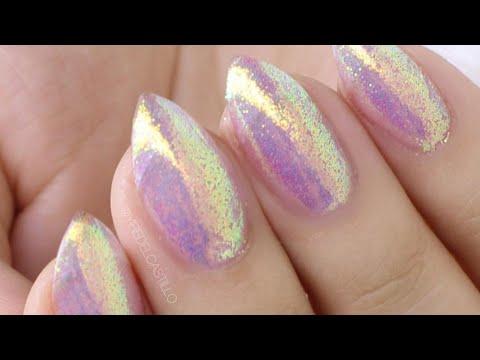 iridescent glitter nails yire