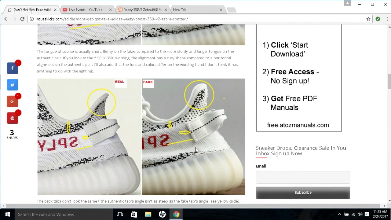 b2f5ee181c2 Fake Adidas Yeezy Boost 350 V2 Zebra Spotted-Quick Tips to Identify them