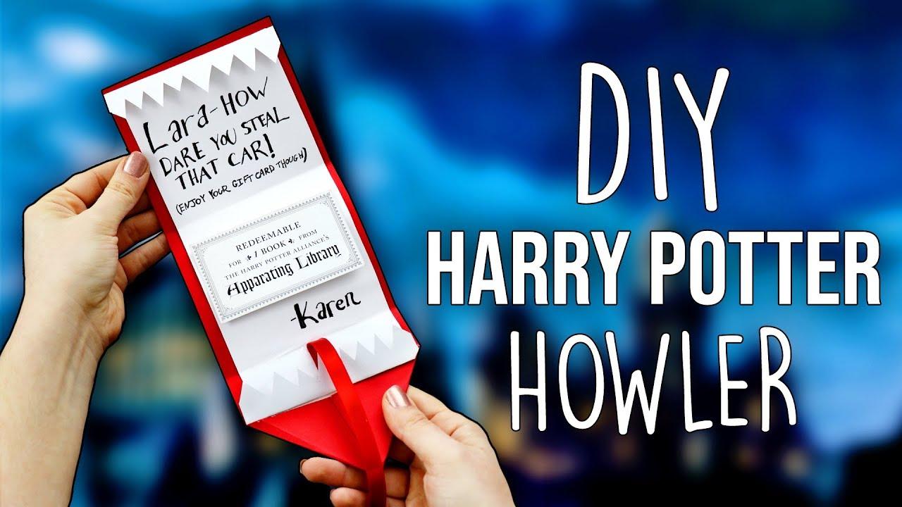 Diy Harry Potter Howler Card