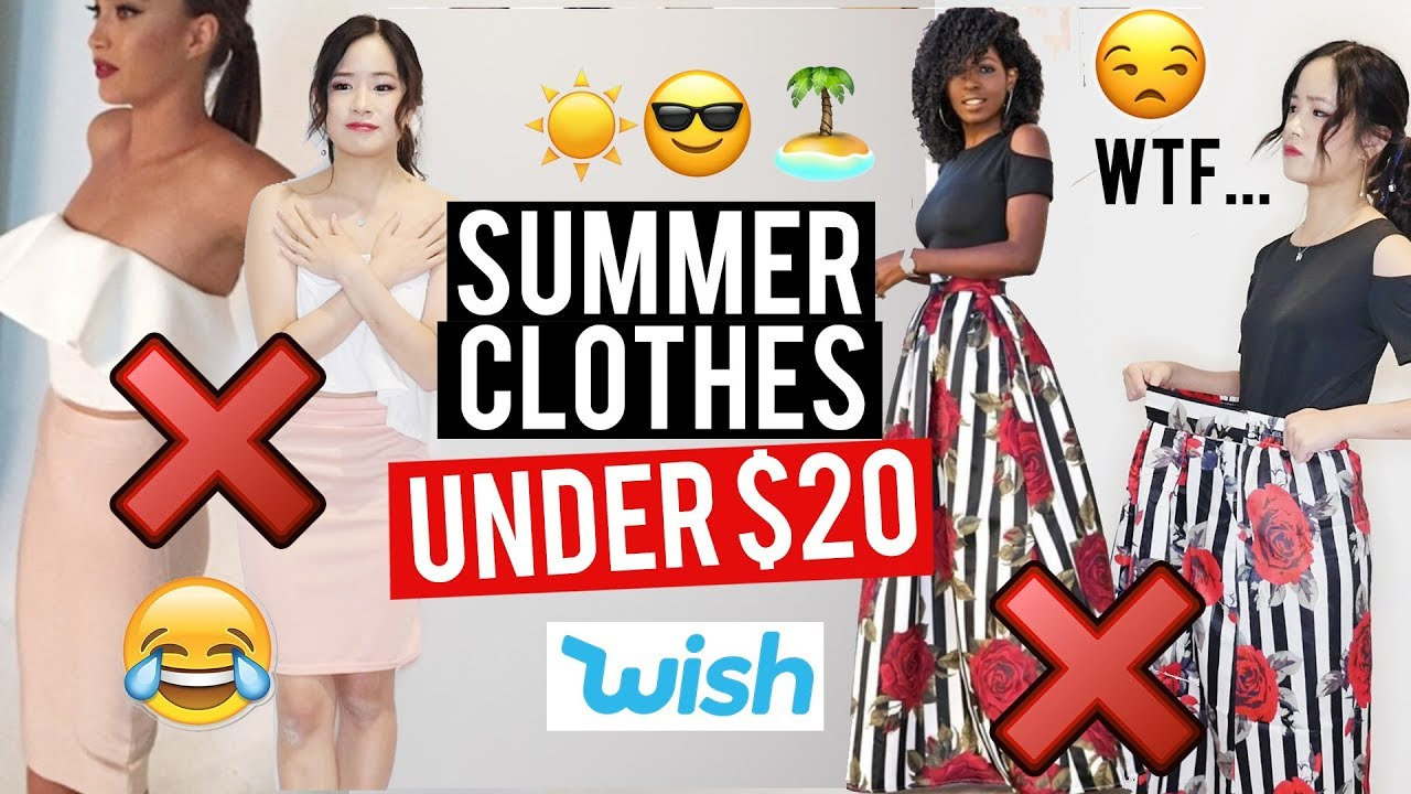 Try on HAUL: UNDER $20 SUMMER CLOTHES from WISH!
