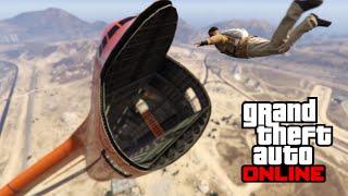 GTA 5 Online - Cargoplane Stunt Challenge 5# || Skydiving through CARGOPLANE FTW!!!