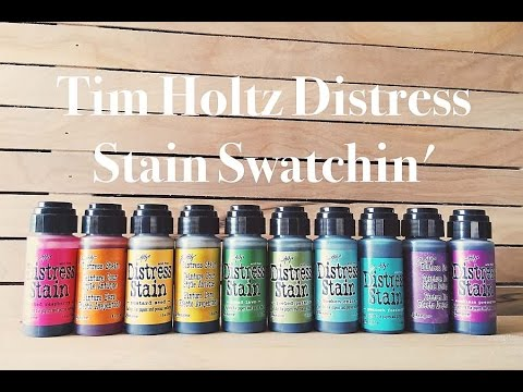 Tim Holtz Distress Stain Swatches & Catch-up Rambles