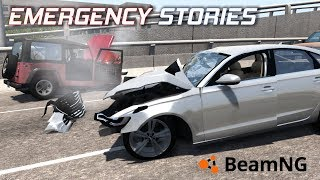 "Emergency Stories [18] (Short Stories) - BeamNG Drive - ""Audi High Speed Collision"""