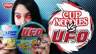 Comparando o CupNoodles sabores do Japão com o UFO!
