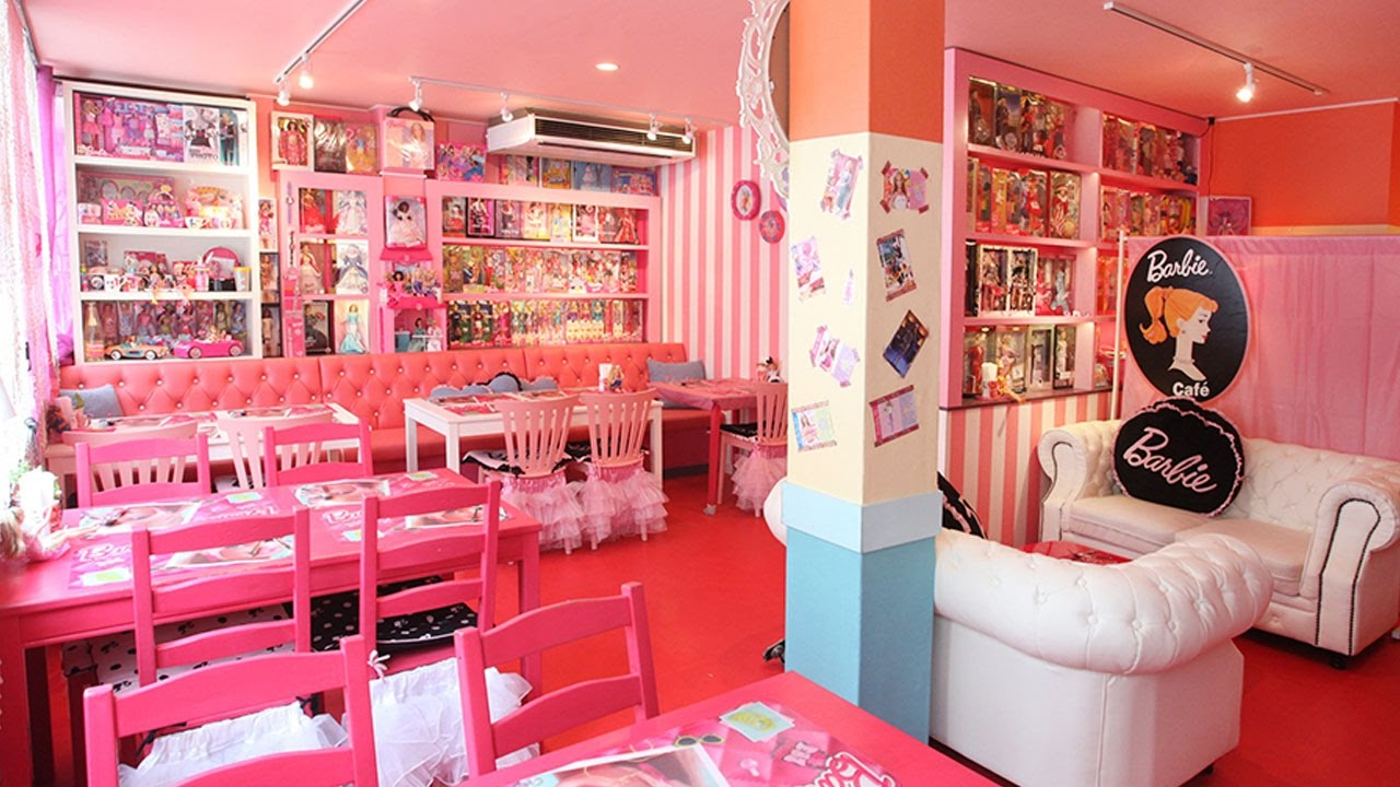 japanese cafe decorated with barbie dolls - youtube