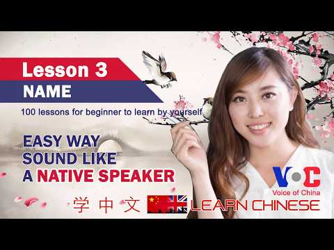Learning Chinese by Yourself: Lesson 3 Name | Chinese Insights | Voice of China