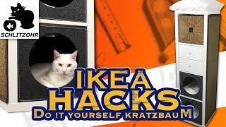 🔥DIY IKEA HACKS | Kratzbaum selber bauen aus Kallax Regal! | Katzen Hack