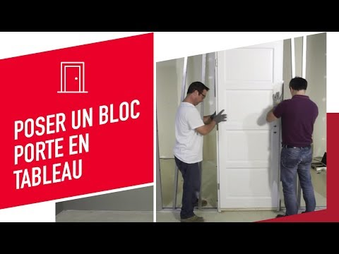 Porte en pose fin de chantier paul ceyrac e couliss doovi for Poser bloc porte