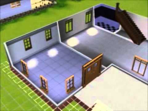 Sims 3 construction de maison youtube for Modele maison sims freeplay