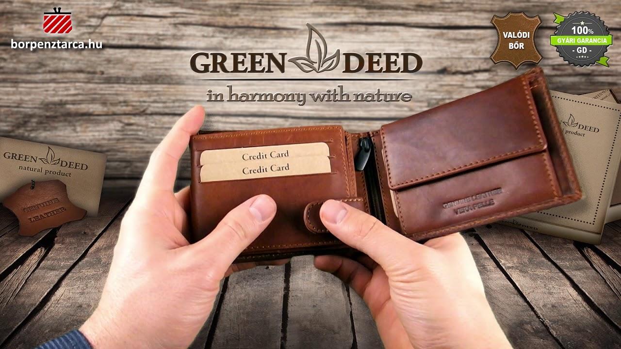 81081cbce088 GreenDeed férfi bőr pénztárca VT1021 - YouTube