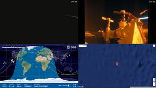 Sunrise Over America And Pacific - ISS Space Station Earth View LIVE NASA/ESA Cameras And Map - 94