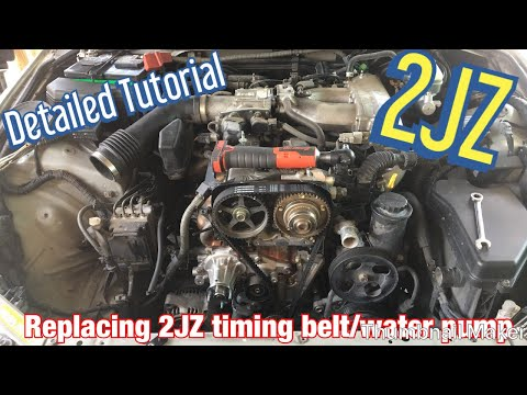 HOW TO REPLACE YOUR WATER PUMP/TIMING BELT 2JZ LEXUS IS300 (detailed step by step tutorial)