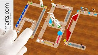 Building Amazing Letters with Marble Machine Toy - game demo for kids
