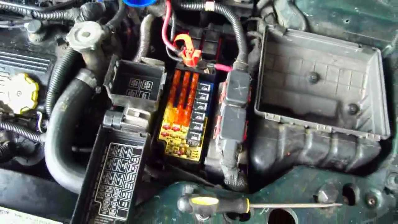 1996 2000 Chrysler Sebring Convertible Relays Fuses Fuzes Youtube For 98 Ford Van Fuse Box