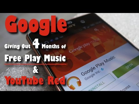 Google Giving Out 4 Months of Free Play Music & YouTube Red