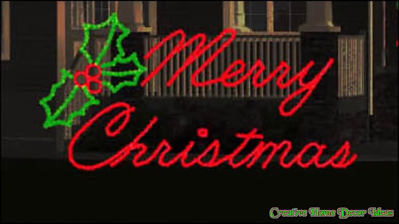 Outdoor Lighted Christmas Signs Ideas