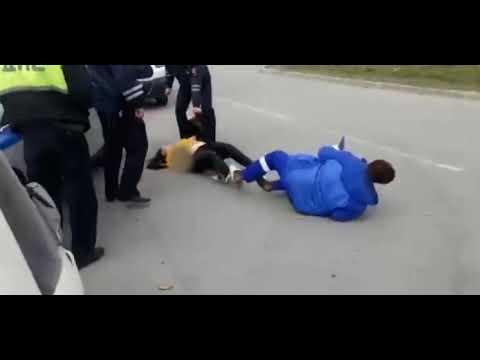 Пьяная 14-летняя девушка угнала машину и попала в ДТП / Drunk 14-year-old girl stole a car