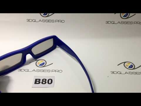 B80 Circular polarized 3D glasses