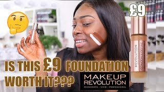TESTING NEW £9 FOUNDATION FROM MAKEUP REVOLUTION! WORTH IT OR NAH??