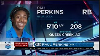 2016 NFL Draft Rd 5 Pk 149 | NY Giants Select RB Paul Perkins