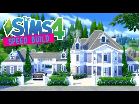 The Sims 4 -Speed Build- Suburban Chateau - No CC -
