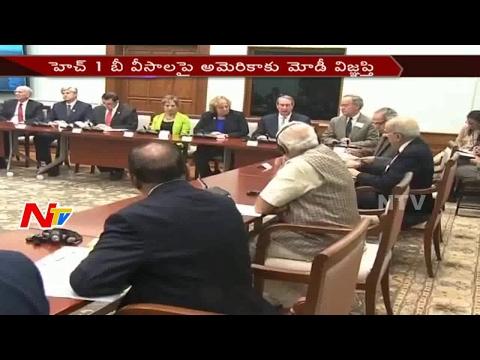 Narendra Modi Urges US || H1B Visas For IT Workers || NTV