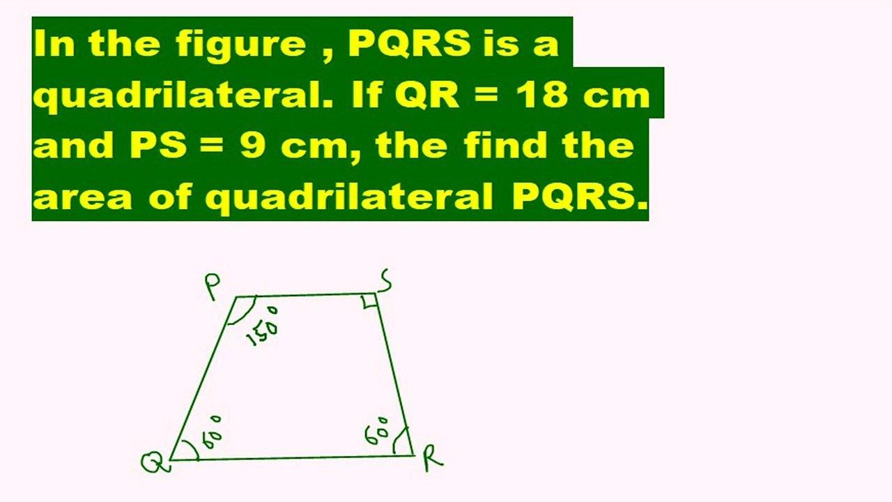construct a quadrilateral PQRS where PR = 4 CM, QR = 6 CM