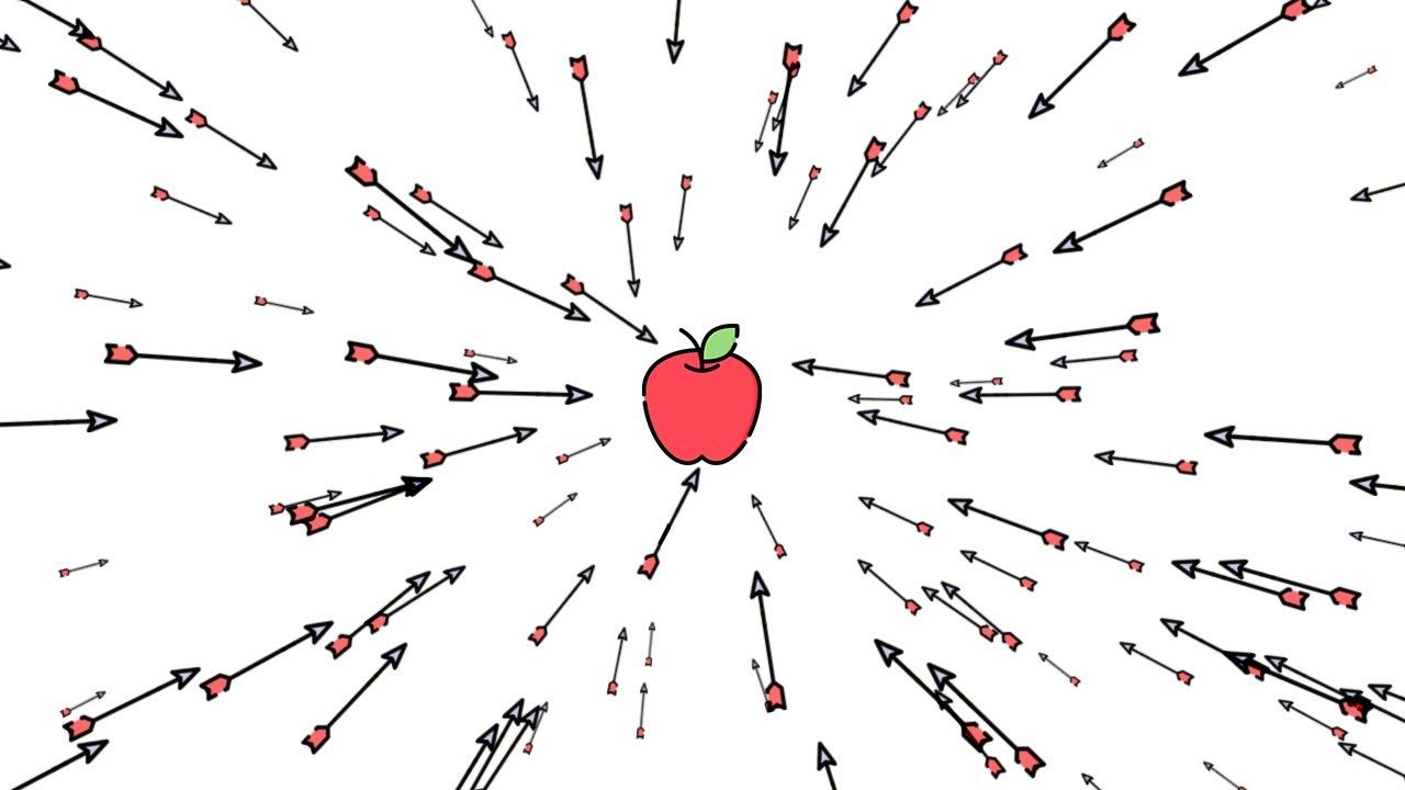 Animated Arrow Follow Apple Or Mouse Cursor   Javascript Mousemove