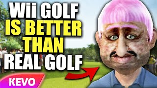 Proving that Wii golf is better than the real thing