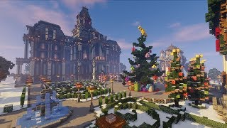 Christmas Mansion Transformation! - Minecraft Timelapse