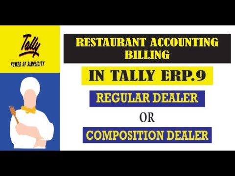 RESTAURANT|HOTEL ACCOUNTING IN (GST) TALLY ERP.9| BILLING WORK | INVOICE ISSUE|HINDI