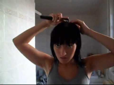 Vidéo HairCut - Frange Droite & Carré long plongeant. - YouTube