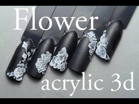 Flower Acrylic 3D :: Nail Art Tutorial By Pablo Rozz